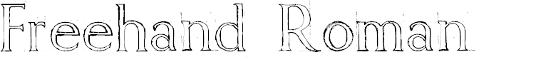 Preview image for Freehand Roman Font