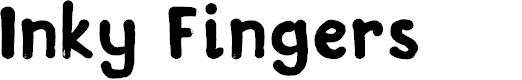 Preview image for DKInkyFingers Font