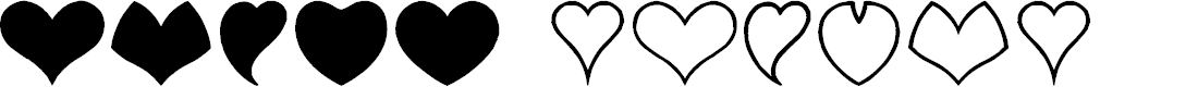 Preview image for HEART shapes Font
