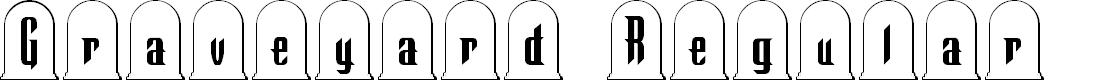 Preview image for Graveyard Regular Font