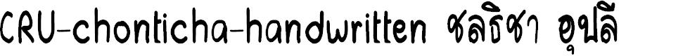 Preview image for CRU-chonticha-handwritten Font
