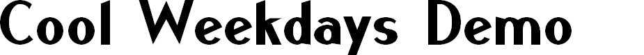 Preview image for Cool Weekdays Demo Font