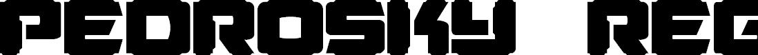 Preview image for Pedrosky Regular Font