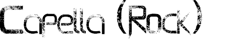 Preview image for Capella (Rock) - LJ Design Studios Bold Font