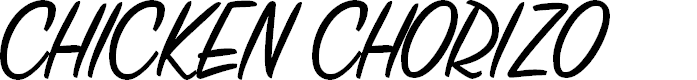 Preview image for CHICKENCHORIZO Font
