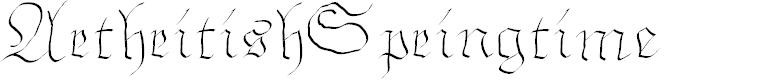 Preview image for ArthritishSpringtime Font