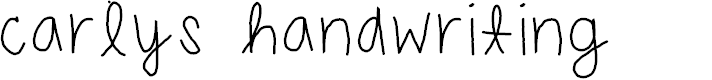 Preview image for carlys handwriting Font