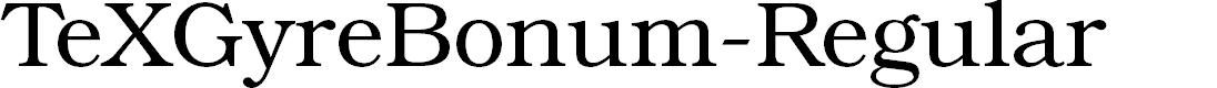Preview image for TeXGyreBonum-Regular Font
