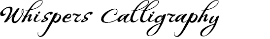 Preview image for WHISPERS CALLIGRAPHY_DEMO_essential_BOLD Font