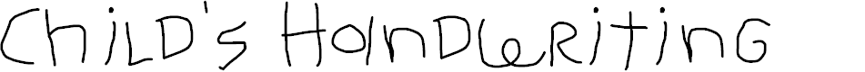 Preview image for Child's Handwriting Font