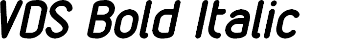 Preview image for VDS Bold Italic