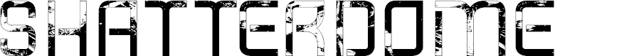 Preview image for Shatterdome Personal Use Grunge Font