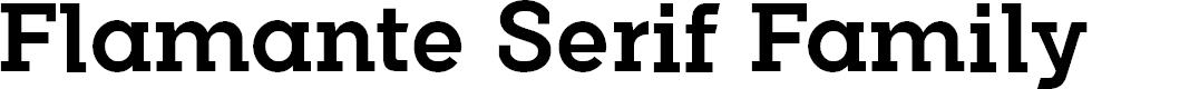 Preview image for FlamanteSerifMedium Font