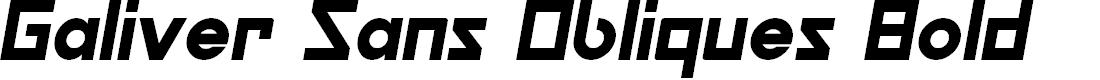 Preview image for Galiver Sans Obliques Bold