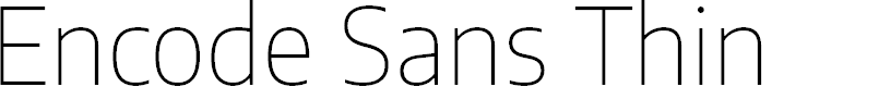 Preview image for Encode Sans Thin
