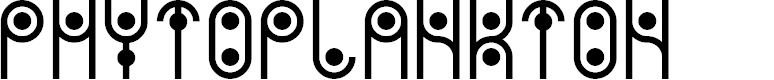 Preview image for PHYTOPLANKTON Font