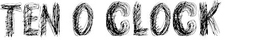 Preview image for TEN O CLOCK Regular Font