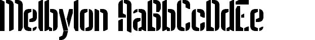 Preview image for Melbylon Font