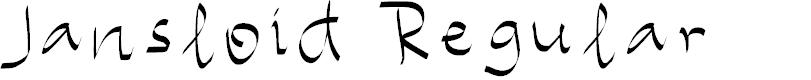 Preview image for Jansloid Regular Font