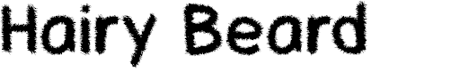 Preview image for Hairy Beard Font