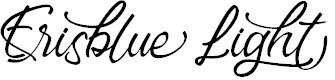 Preview image for Erisblue Light Font