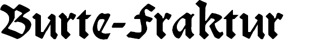 Preview image for Burte-Fraktur Font