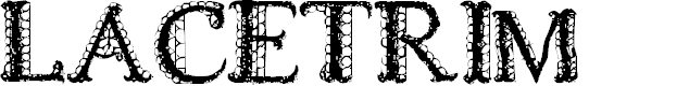 Preview image for LACETRIM Font