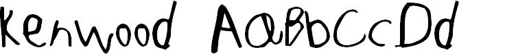 Preview image for Kenwood Regular Font