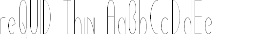 Preview image for reQUIDThin Font
