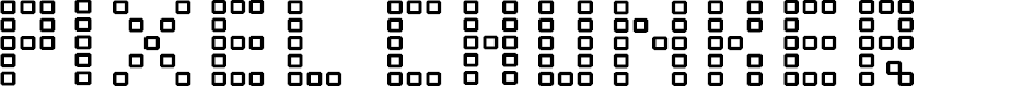 Preview image for Pixel Chunker Font