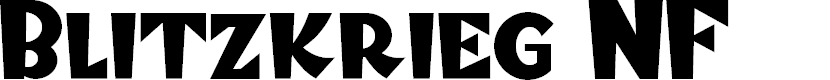 Preview image for Blitzkrieg NF Font
