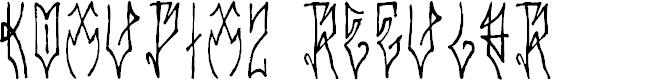 Preview image for Koxu_Pix_2 Regular Font