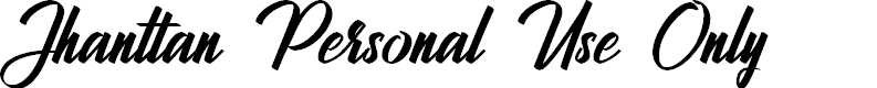 Preview image for Jhanttan Personal Use Only Font