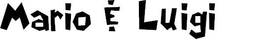 Preview image for Mario & Luigi Font