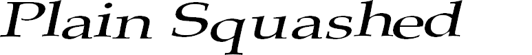 Preview image for Plain Squashed Font