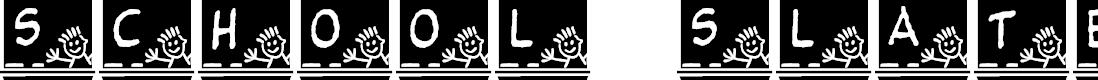Preview image for JLR School Slate Font
