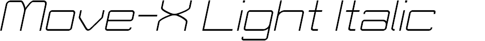 Preview image for Move-X Light Italic