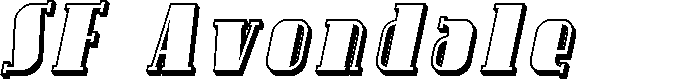 Preview image for SF Avondale Shaded Italic