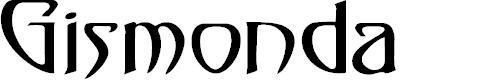 Preview image for Gismonda (Plain):001.001 Font