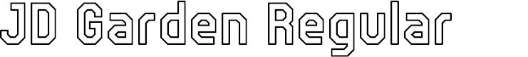 Preview image for JD Garden Regular Font