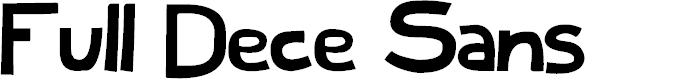 Preview image for Full Dece Sans Font