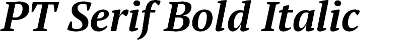 Preview image for PT Serif Bold Italic