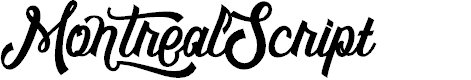 Preview image for MontrealScript Font