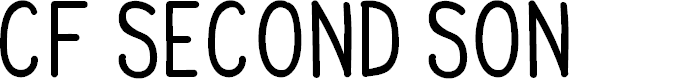 Preview image for CF Second Son PERSONAL Regular Font