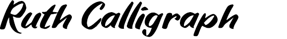 Preview image for Ruth Calligraph Font