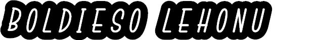Preview image for Boldieso Lehonu Font