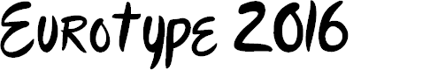 Preview image for Eurotype 2016 Font