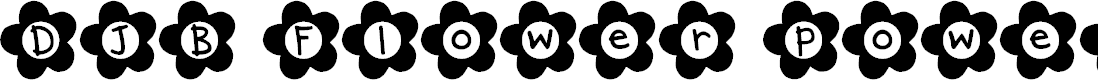 Preview image for DJB Flower Power Font