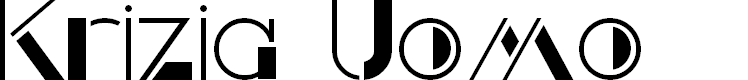 Preview image for Krizia Uomo Font