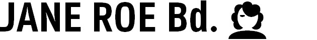 Preview image for Jane Roe Bold Font